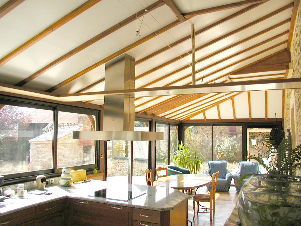 extension et veranda bois tecsabois charpente. Black Bedroom Furniture Sets. Home Design Ideas
